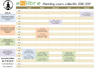 Planning Cours Collectif 2016-2017